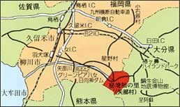 杣の里アクセスマップ